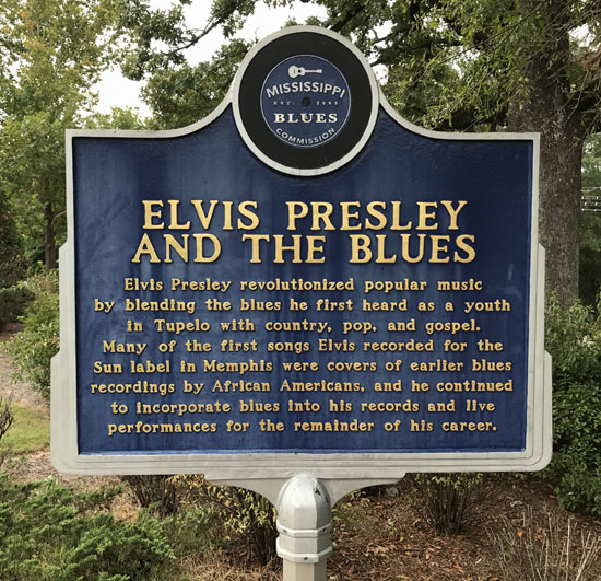 Elvis Presley and the Blues Historical Marker in Tupelo