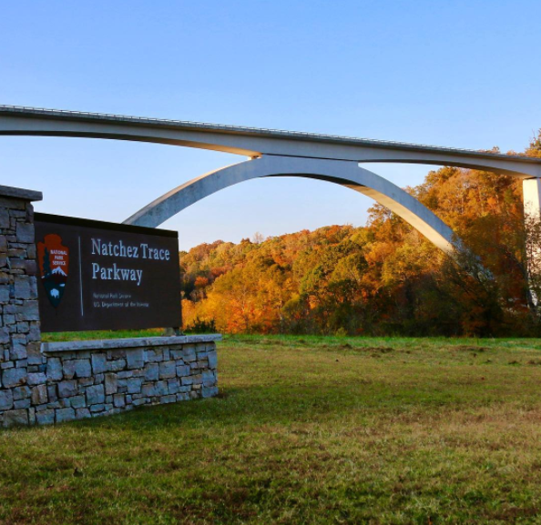 Natchez Trace Parkway in Fall