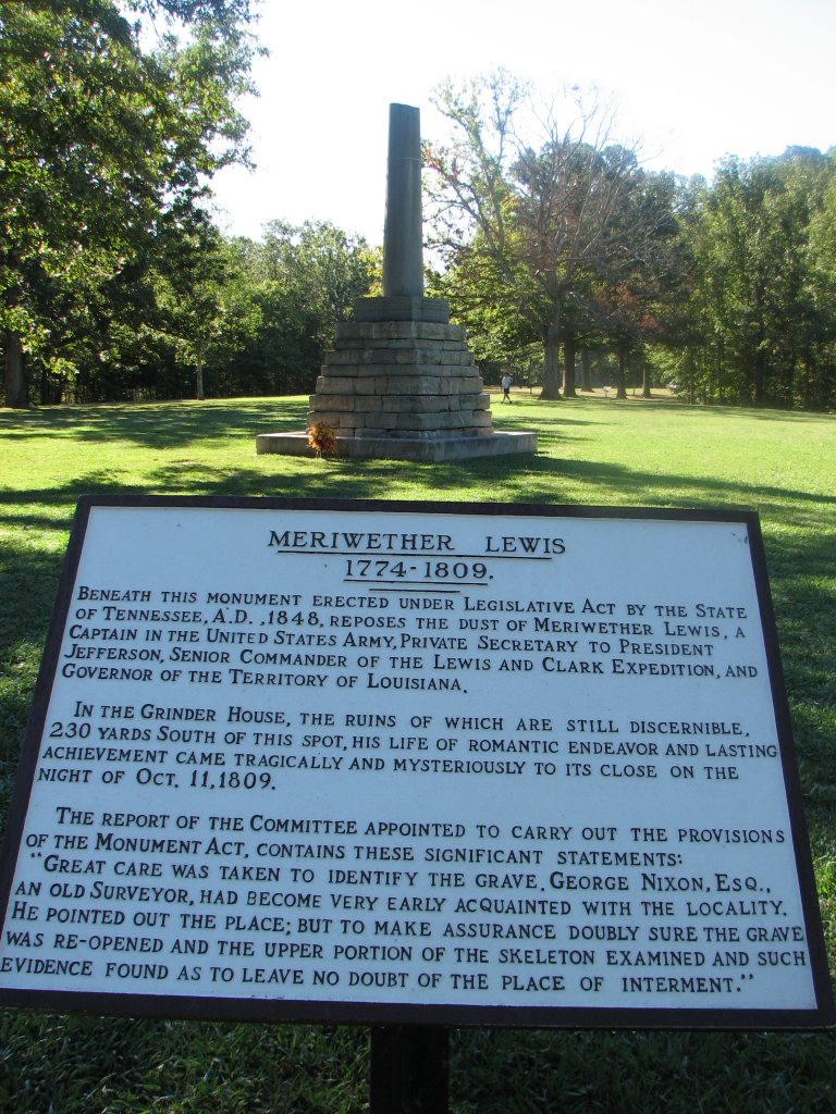 Monument-at-Meriwether-Lewis-Gravesite