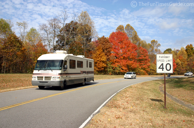 RVing the Natchez Trace Parkway during fall. Photo credit: Natchez Trace Fun Times Guide
