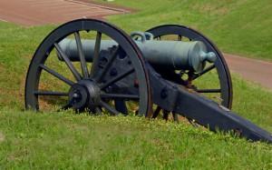 A Civil War cannon the at Vicksburg National Military Park.