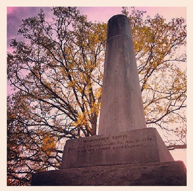 The Meriwether Lewis Monument and Burial Site